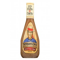 Newman's Own Family Recipe Dressing - Italian - Case Of 6 - 16 Fl Oz.