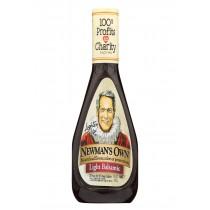 Newman's Own Lighten Up Balsamic Vinaigrette Salad Dressing - Case Of 6 - 16 Fl Oz.