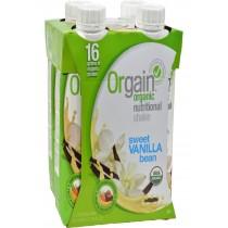 Orgain Organic Nutrition Shake - Vanilla Bean - 11 Fl Oz - Case Of 12