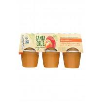 Santa Cruz Organic Apple Sauce - Peach - Case Of 12 - 4 Oz.