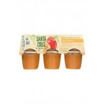 Santa Cruz Organic Apple Sauce - Apricot - Case Of 12 - 4 Oz.