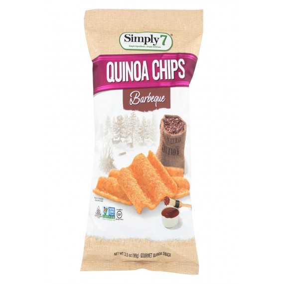 Simply 7 Quinoa Chips - Barbecue - Case Of 12 - 3.5 Oz.