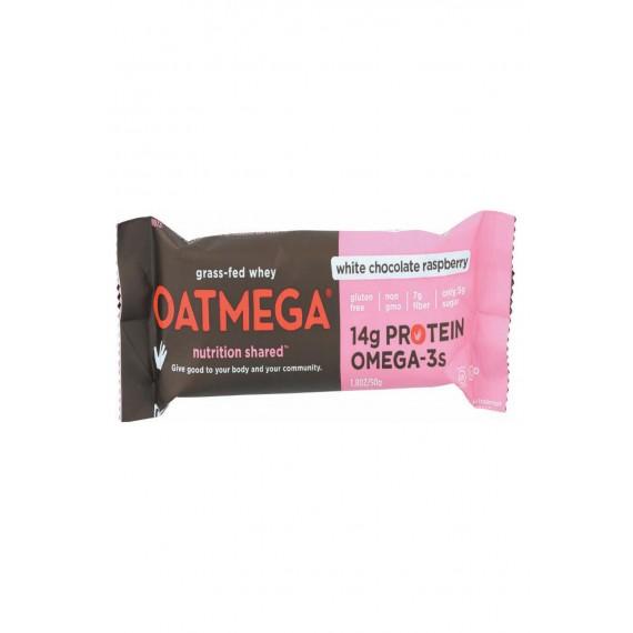 Oatmegabar White Chocolate - Raspberry - Case Of 12 - 1.8 Oz.