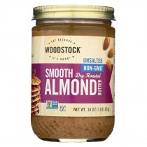 Woodstock Smooth Almond Butter - Case Of 12 - 16 Oz.