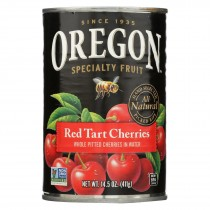 Oregon Fruit Red Tart Cherries In Water - Case Of 8 - 14.5 Oz.