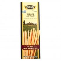 Alessi Breadsticks - Garlic - Case Of 12 - 4.4 Oz.