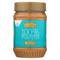 Crazy Richards Natural Creamy Peanut Butter - Case Of 12 - 16 Oz.