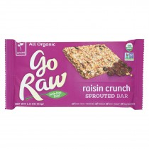 Go Raw Sprouted Granola - Raisin Crunch - Case Of 20 - 1.8 Oz.