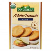 Devonsheer Organic Plain Melba Rounds - Case Of 12 - 5.25 Oz.