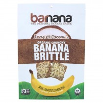 Barnana Ban Brittle - Coconut - Case Of 10 - 3.5 Oz