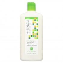Andalou Naturals Silky Smooth Shampoo - Exotic Marula Oil - 11.5 Fl Oz
