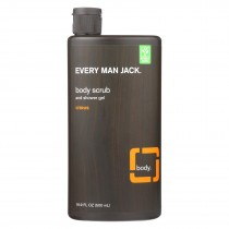 Every Man Jack Citrus Body Scrub - 16.9 Fl Oz