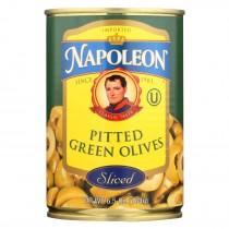 Napoleon Olives Sliced - Green - Case Of 12 - 7 Oz.
