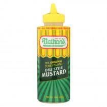 Nathan's Deli Style Mustard - Mustard - Case Of 12 - 12 Oz.