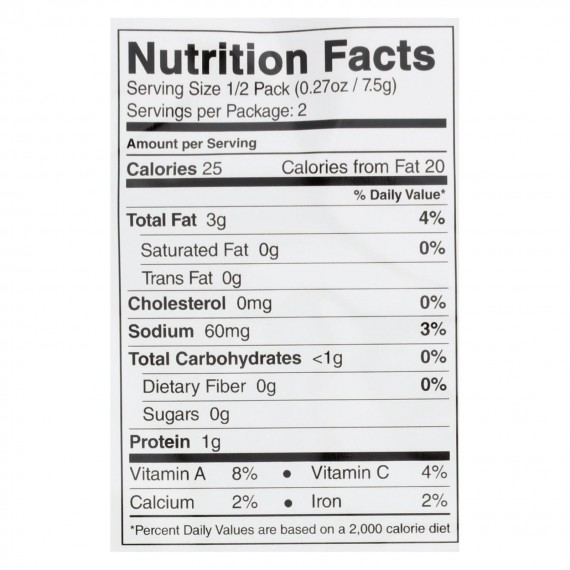 Seasnax Organic Premium Roasted Seaweed Snack - Toasty Onion - Case Of 16 - 0.54 Oz.