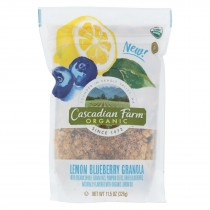 Cascadian Farm Granola - Organic - Lemon Blueberry - Case Of 4 - 11.5 Oz
