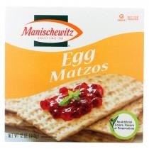 Manischewitz Egg Matzos Crackers - Case Of 12 - 12 Oz.