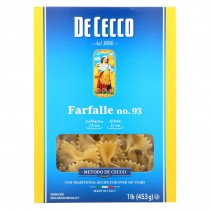 De Cecco Pasta Pasta - Farfalle - Bowties - Case Of 12 - 16 Oz