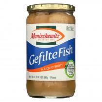 Manischewitz Gefilte Fish In Liquid Broth - Case Of 12 - 24 Oz.