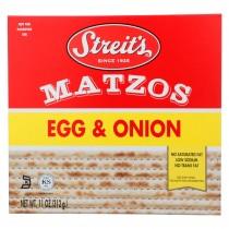Streit's Daily Matzo - Egg And Onion - Case Of 12 - 11 Oz.