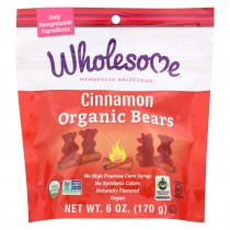 Wholesome! Candy - Organic - Cinnamon Bears - Case Of 6 - 6 Oz