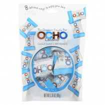 Ocho Candy Organic Coconut Mini Bars - In Dark Chocolate - Case Of 12 - 3.5 Oz