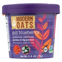 Modern Oats All Natural Oatmeal - Goji Blueberry - Case Of 6 - 2.6 Oz.