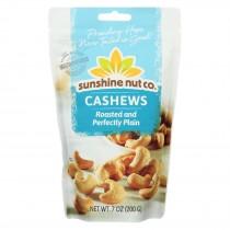 Sunshine Nut Company Cashews - Plain - Roasted - Case Of 6 - 7 Oz