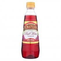 Pompeian Gourmet Vinegar - Red Wine - Case Of 12 - 16 Fl Oz.