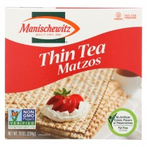 Manischewitz Thin Matzo Tea Crackers - Case Of 12 - 10 Oz.