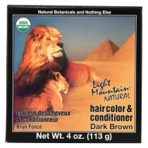 Light Mountain Organic Hair Color And Conditioner - Dark Brown - 4 Oz
