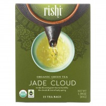 Rishi Tea Organic Green Tea - Jade Cloud - Case Of 6 - 15 Bags
