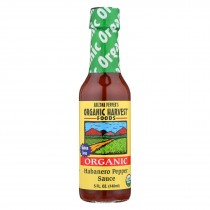 Organic Harvest Pepper Sauce - Habanero - Case Of 12 - 5 Oz.