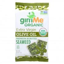 Gimme Seaweed Snacks Seaweed Snack - Organic - Extra Virgin Olive Oil - Case Of 12 - .17 Oz