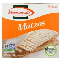 Manischewitz Matzos Crackers - Unsalted - Case Of 12 - 10 Oz.