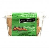 Aunt Gussie's Biscuits - Chocolate Chip Almond - Case Of 8 - 8 Oz.