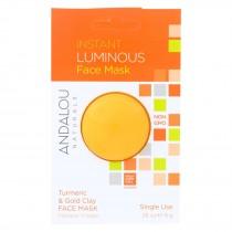 Andalou Naturals Instant Luminous Face Mask - Turmeric & Gold Clay - Case Of 6 - 0.28 Oz