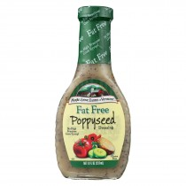 Maple Grove Farms Fat Free Poppyseed Dressing - Case Of 12 - 8 Oz.