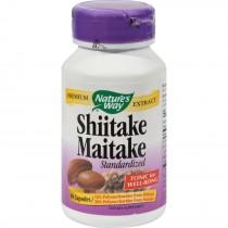 Nature's Way Shiitake And Maitake Standardized - 60 Capsules