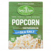Black Jewell Popcorn - Micro - Sea Salt - Case Of 6 - 9 Oz