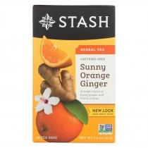 Stash Tea Herbal Tea - Sunny Orange Ginger - Case Of 6 - 18 Bags