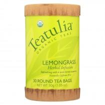 Teatulia Organic Herbal Tea - Lemongrass - Case Of 6 - 30 Count