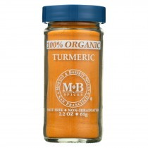 Morton And Bassett Organic Turmeric - Turmeric - Case Of 3 - 2.2 Oz.