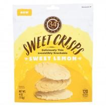 34 Degrees - Crisps Sweet Lemon - Case Of 12-4 Oz