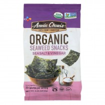 Annie Chun's Seaweed Snack - Sea Salt And Vinegar - Case Of 12 - .35 Oz.