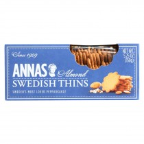 Annas Swedish Almond Thins - Case Of 12 - 5.25 Oz.