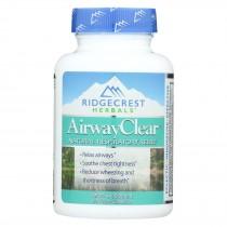 Ridgecrest Herbals - Airway Clear - Natrual Respiratory Relief - 60 Vegan Capsules