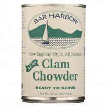 Bar Harbor - Clam Chowder - Ready To Serve - Case Of 6-15 Oz.