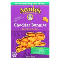 Annie's Homegrown - Snack Crackr Ched Bun - Case Of 12-7.5 Oz.