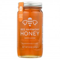 Bee Harmony - Honey - American Raw Orange Blossom - Case Of 6-12 Oz.